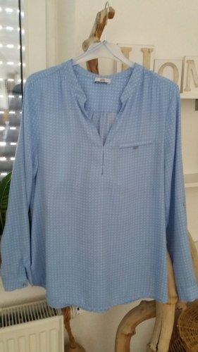C&A Damen hellblau-weiße Businnesswear Bluse Gr.42