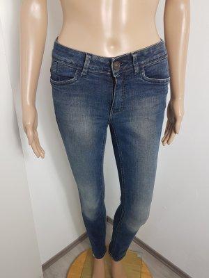 C&A Damen Skinny Jeans Röhrenjeans Hüftjeans blau Größe 34