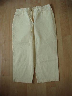 C&A - Damen Sommer Hose 7/8 lang - Gr. 42/44 - helles Gelb - dünne Baumwolle