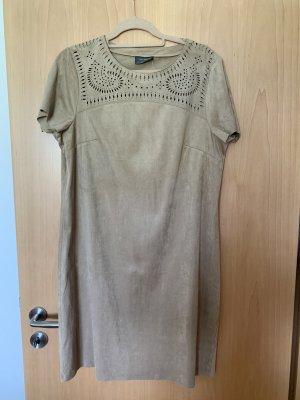 C&A Vestido de cuero beige-crema