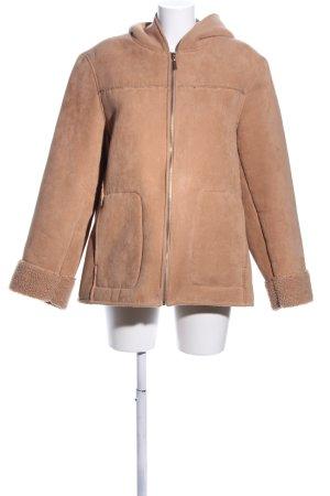C&A Fur Jacket nude casual look
