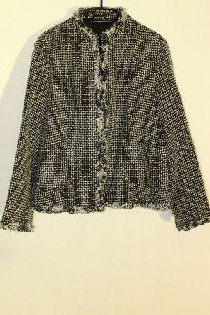 C&A Knitted Blazer black-white polyacrylic