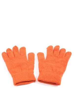 C&A Gloves light orange cable stitch casual look