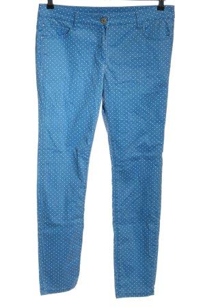 C&A Pantalón de cinco bolsillos azul-blanco estampado a lunares look casual