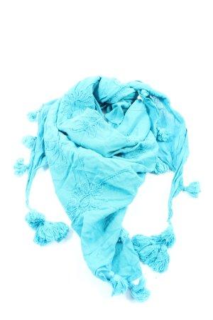 C&A Bufanda de flecos azul look casual