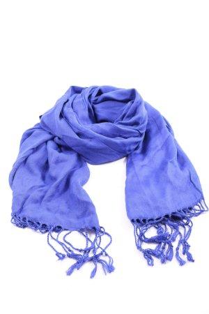 C&A Sjaal met franjes blauw casual uitstraling