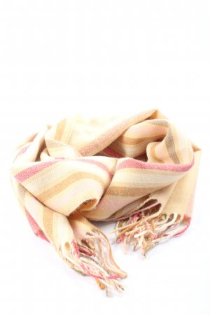 C&A Fringed Scarf striped pattern casual look