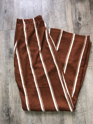 C&A Flares brown-white polyester