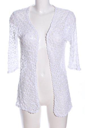 C&A Gehaakte cardigan wit bloemenprint elegant