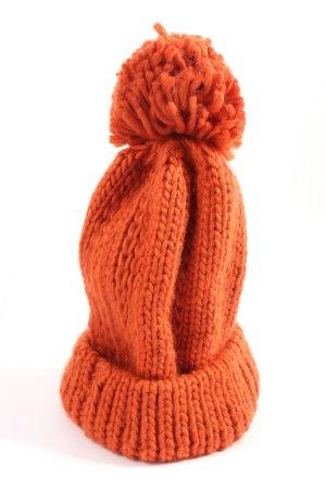 C&A Szydełkowana czapka jasny pomarańczowy Warkoczowy wzór W stylu casual