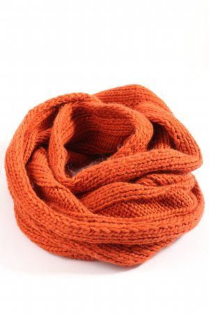C&A Crochet Scarf light orange cable stitch casual look