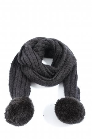 C&A Crochet Scarf light grey cable stitch casual look