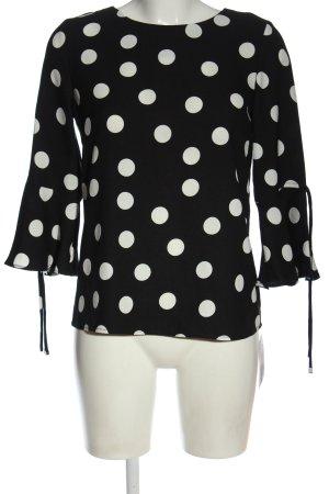 C&A Blusa-camisa negro-blanco estampado a lunares elegante