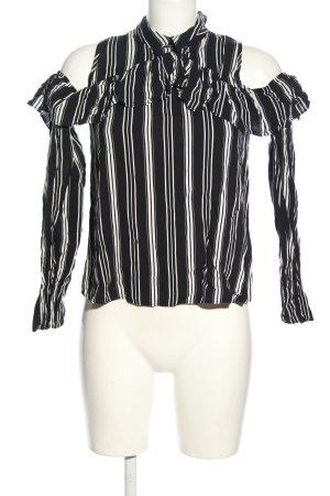 C&A Hemd-Bluse schwarz-weiß Allover-Druck Casual-Look