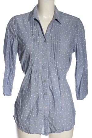C&A Hemd-Bluse blau-weiß abstraktes Muster Elegant