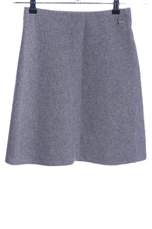 C&A Jupe taille haute gris clair moucheté style décontracté