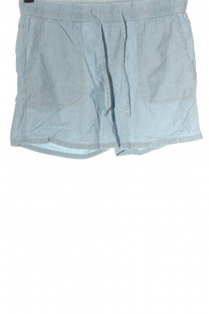 C&A Hot Pants blau-weiß Streifenmuster Casual-Look