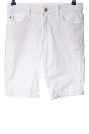 C&A Pantalón corto de tela vaquera blanco puro look casual