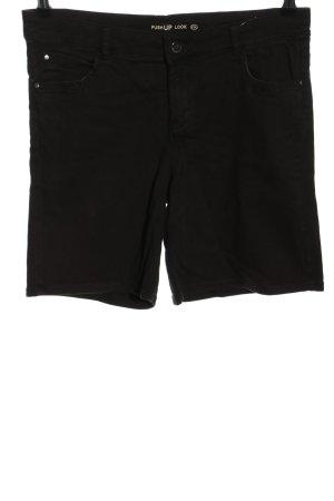 C&A Short en jean noir style décontracté