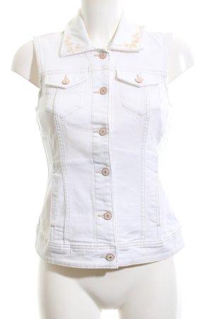 C&A Denim Vest white casual look