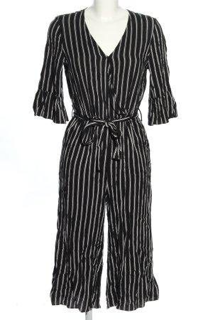 C&A Jumpsuit schwarz-weiß Streifenmuster Casual-Look