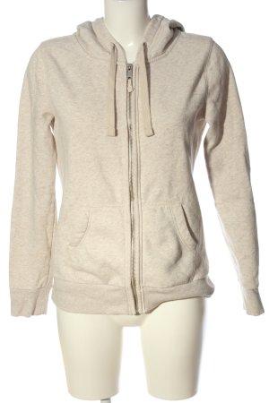 C&A Bluza z kapturem jasnoszary-w kolorze białej wełny Melanżowy