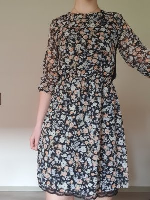 C&A Longsleeve Dress black-white polyester