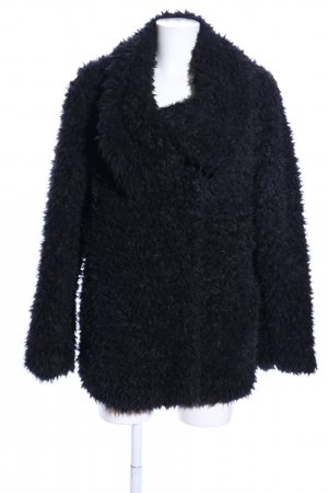 C&A Fake Fur Jacket black casual look