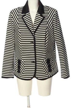 C&A Kurz-Blazer schwarz-weiß Streifenmuster Casual-Look