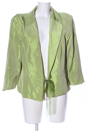 C&A Kurz-Blazer grün Glanz-Optik