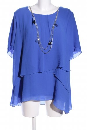 C&A Short Sleeved Blouse blue casual look