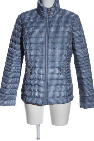 C&A Krótka kurtka niebieski-biały Pikowany wzór W stylu casual