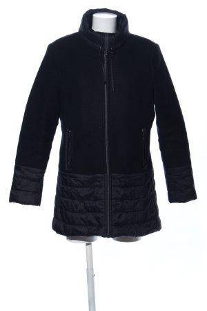 C&A Manteau court noir motif de courtepointe style décontracté