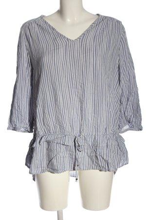 C&A Blusa de manga larga azul-blanco estampado a rayas look casual