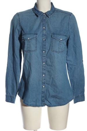 C&A Langarmhemd blau Casual-Look
