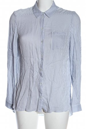 C&A Langarmhemd weiß-blau Streifenmuster Elegant