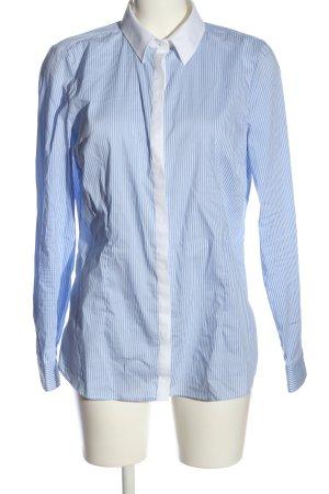 C&A Langarmhemd blau-weiß Streifenmuster Business-Look