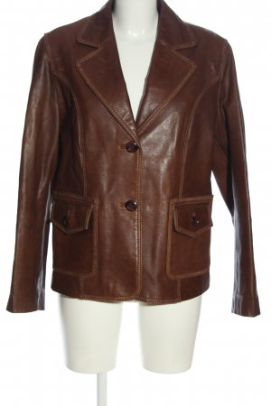 C&A Blazer in pelle marrone stile casual