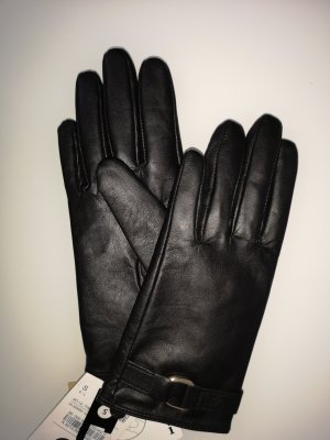 C&A Leather Gloves black