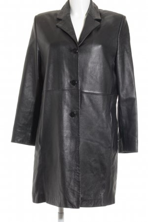 C&A Ledermantel schwarz minimalistischer Stil