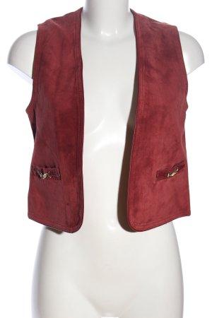C&A Skórzana kamizelka czerwony W stylu casual