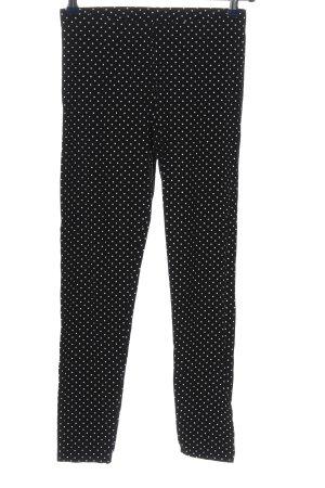 C&A Leggings schwarz-weiß Allover-Druck Casual-Look