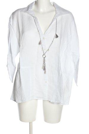 C&A Blusa de lino blanco look casual