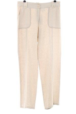 C&A Pantalon en lin blanc cassé style décontracté