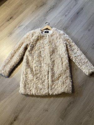 C&A OUTERWEAR Manteau imitation fourrure blanc cassé