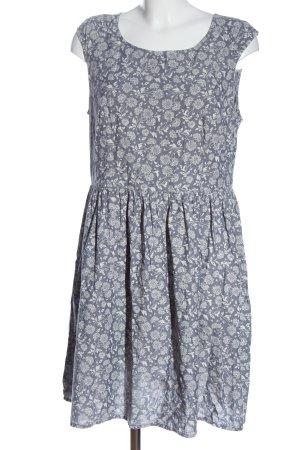 C&A Vestido de Verano azul-blanco estampado repetido sobre toda la superficie