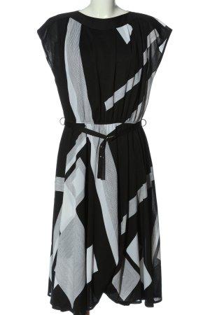 C&A Midikleid schwarz-weiß Streifenmuster Casual-Look