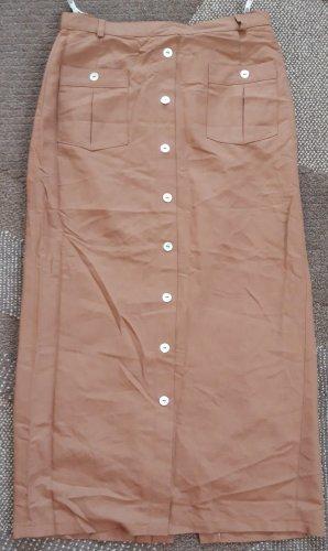 C&A Spódnica midi jasnobrązowy