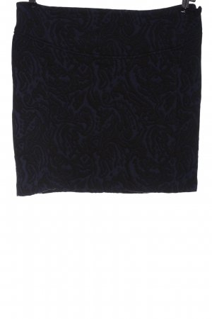 C&A Minirock blau-schwarz abstraktes Muster Casual-Look