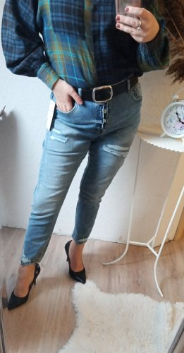 C&A Carrot Jeans light blue-dark blue